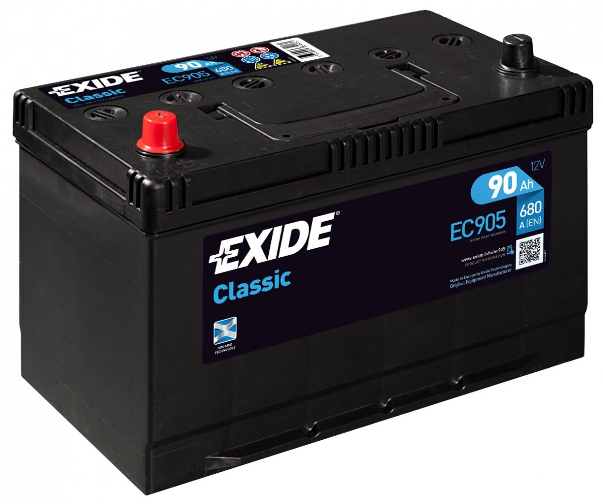 EXIDE CLASSIC 90 ა/ს EC905