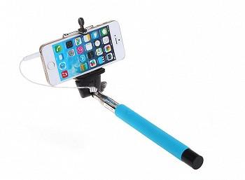სელფის მონოპოდი WIRED STICK PHONE HOLDER S167A SKY BLUE