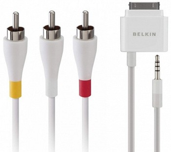 ადაფტერი BELKIN VIDEO CABLE IPHONE/ IPOD TO TV (F8Z361EA06)