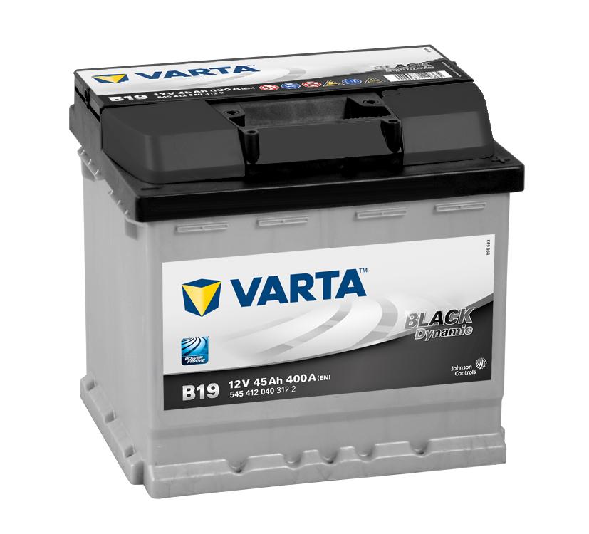 ავტომობილის აკუმულატორი VARTA BLACK 45 A/H B-19 (20300067)