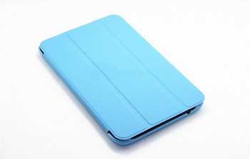 BLUE TRI-FOLD STAND PU LEATHER CASE FOR LENOVO IDEATAB A7-30 A3300
