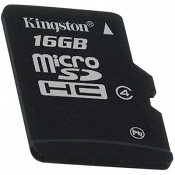 KINGSTON MICROSDHC 16 GB CLASS 4 + SD ADAPTER