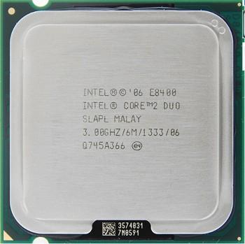 INTEL CORE 2 DUO E8400 (6 MB ქეშ მეხსიერება, 3 GHZ) TRAY