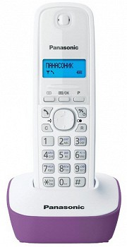 PANASONIC KX-TG1611 White Purple (KX-TG1611UAF)