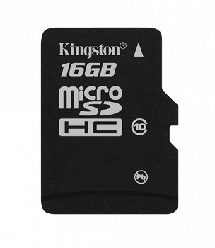 KINGSTON MICROSDHC 16 GB CLASS 10 + SD ADAPTER