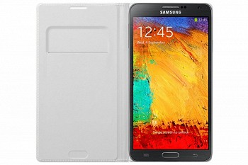 SAMSUNG GALAXY NOTE 3 FLIP WALLET COVER WHITE (EF-WN900BWEGRU)