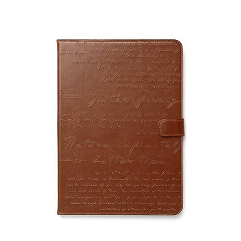 ZENUS IPAD AIR MASSTIGE LETTERING DIARY CASE BROWN