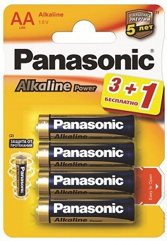 PANASONIC ALKALINE POWER (LR6REB/4B1F)