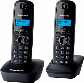 სახლის ტელეფონი PANASONIC KX-TG1612UAH BLACK