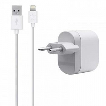 BELKIN USB CHARGER FOR APPLE WHITE (F8J112VF04-WHT)