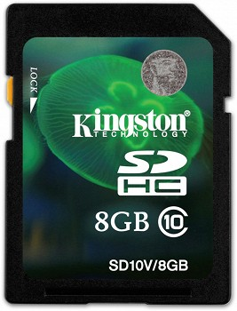 KINGSTON SDHC 8 GB CLASS 10