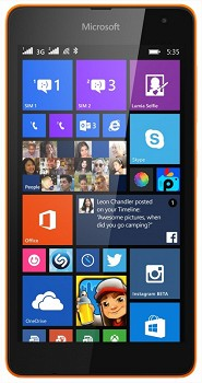 MICROSOFT LUMIA 535 DUAL 8GB ORANGE