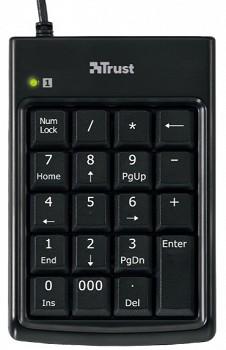 TRUST NUMERIC KEYPAD & USB HUB (14522)