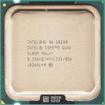INTEL CORE 2 QUAD Q8200 (4 MB ქეშ მეხსიერება, 2.33 GHZ) TRAY