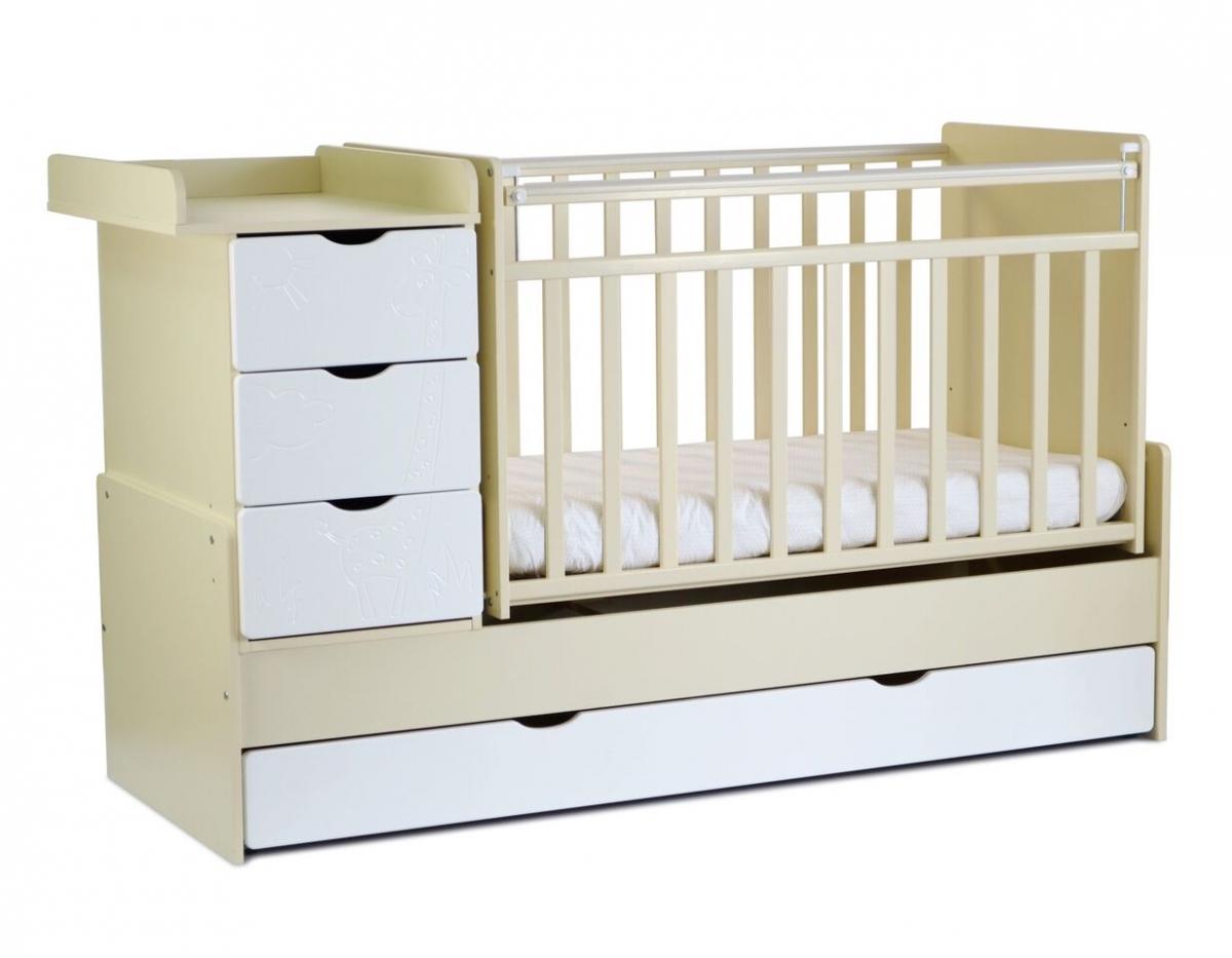 """ბავშვის საწოლი SKV COMPANY """"ჟირაფი"""" (4680003275061)"""