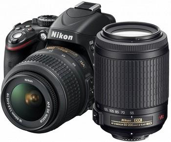 NIKON D3200 KIT 18-55 + KIT 55-200 BLACK