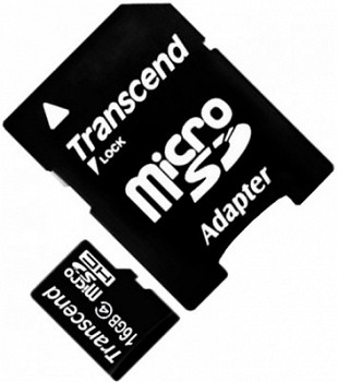 TRANSCEND 16 GB CLASS 4+SD ADAPTER (TS16GUSDHC4)