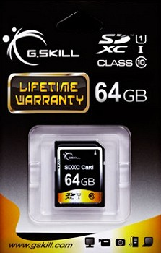 G.SKILL MICRO SDXC 64GB (FF-SDXC64GN-U1)