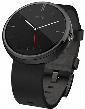MOTOROLA MOTO 360 LEATHER STRAP BLACK