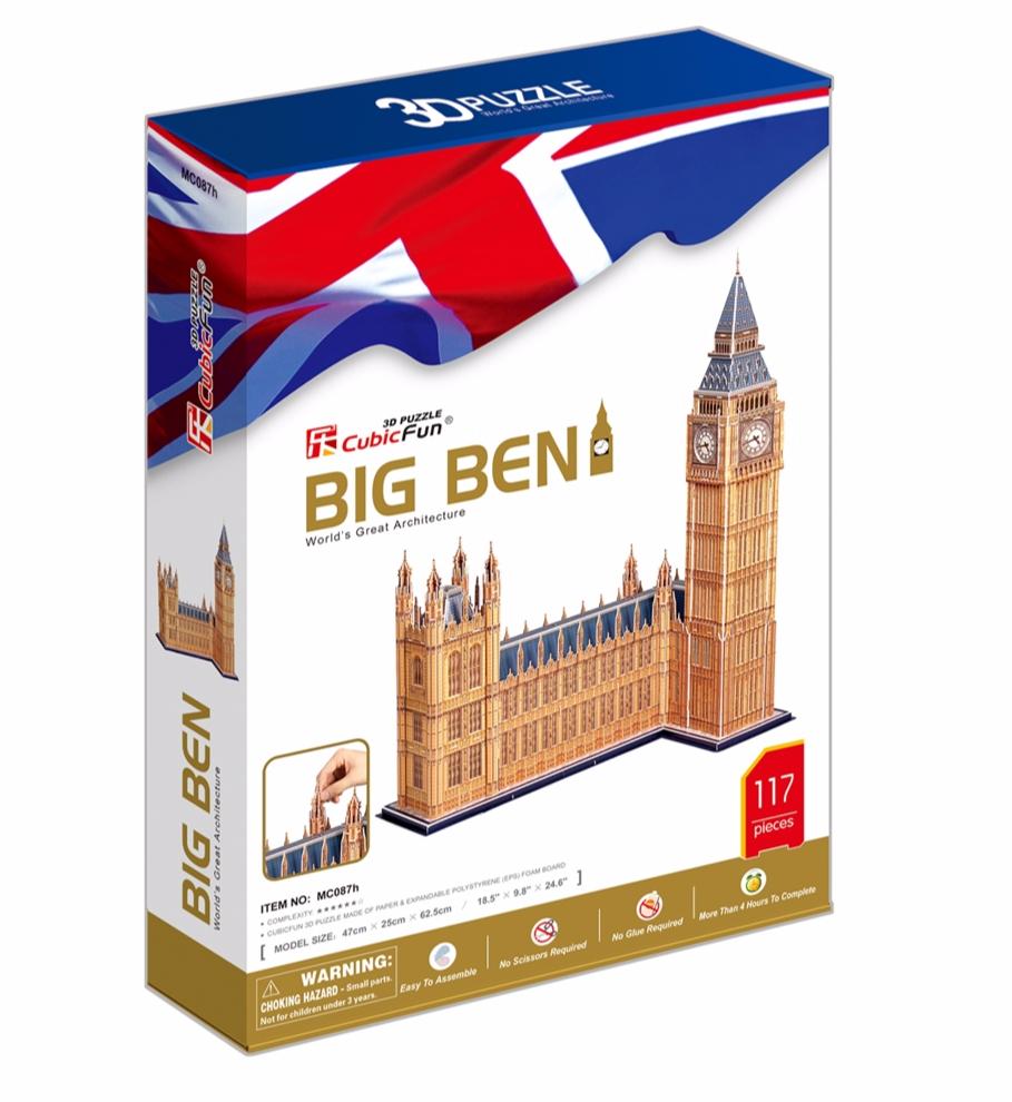 სათამაშო 3D ფაზლი CUBICFUN BIG BEN (MC087H)