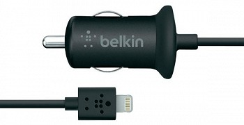 BELKIN CAR CHARGER WITH LIGHTNING CONECCTOR FOR IPHONE 5 BLACK (F8J075BTBLK)