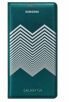 SAMSUNG GALAXY S5 FLIP COVER NICHOLAS KIRKWOOD GREEN SILVER