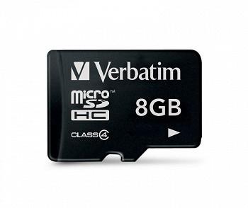 VERBATIM MICRO SDHC 8 GB CLASS 4