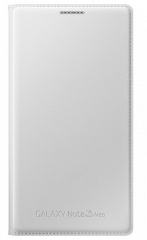 SAMSUNG GALAXY NOTE 3 NEO FLIP WALLET COVER WHITE