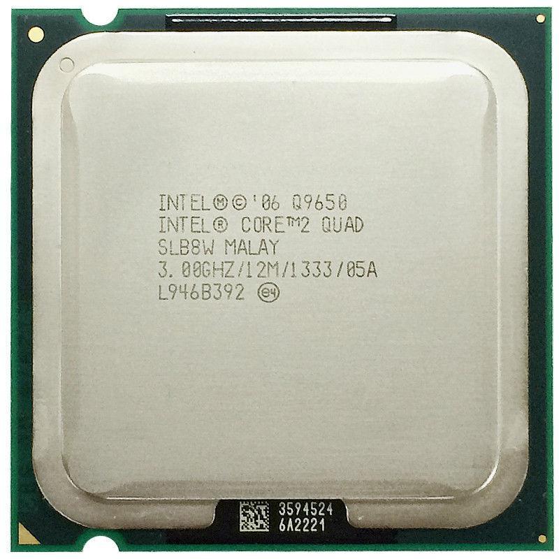 INTEL CORE 2 QUAD Q9650 (12 MB ქეშ მეხსიერება, 3 GHZ) TRAY