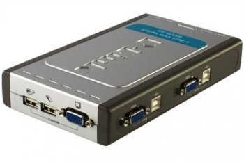 D-LINK KVM SWITCHES/ 4-PORT DKVM-4U WITH 2 CABLE