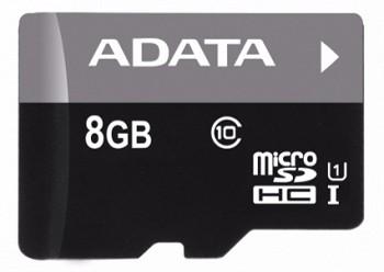 A-DATA 8 GB PREMIER MICROSDHC UHS-I U1 CLASS10 + MICRO READER
