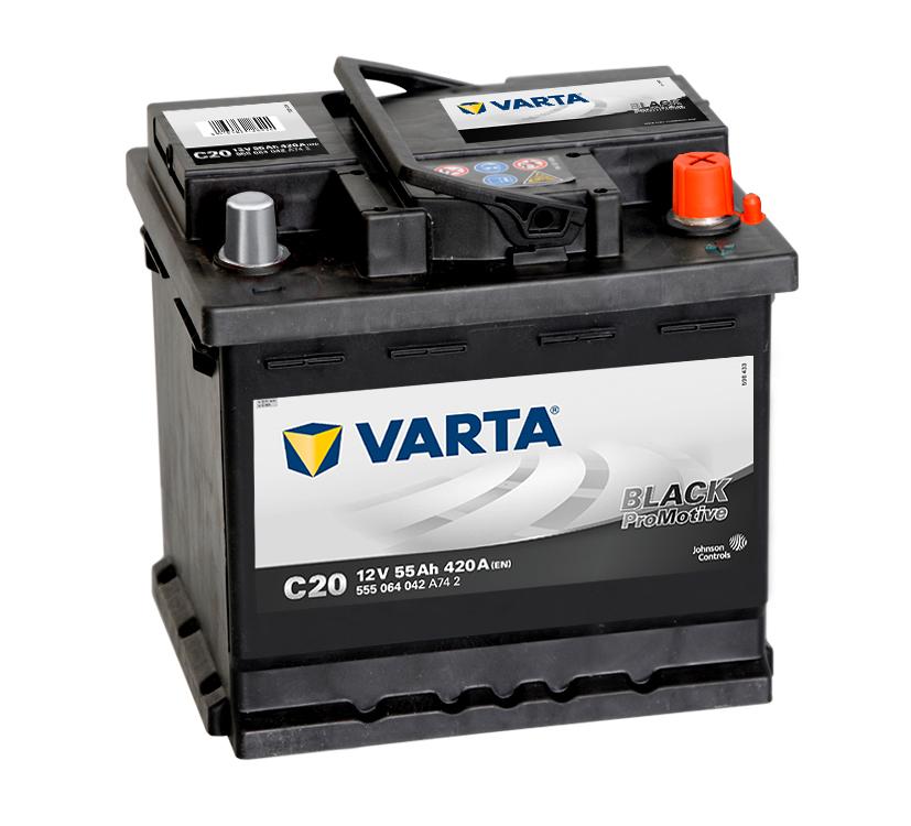 ავტომობილის აკუმულატორი VARTA BLACK 55 A/H C-20 (20300231)