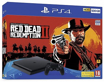 კონსოლი SONY PLAYSTATION 4 SLIM 500GB + RED DEAD REDEMPTION 2