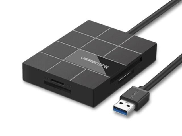 USB ჰაბი UGREEN US220 USB 3.0 CARD READER (30846)