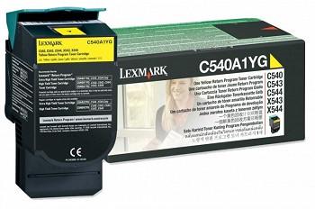 LEXMARK C540A1YG RETURN PROGRAMME TONER