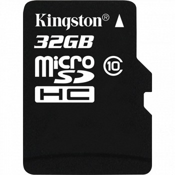 KINGSTON MICROSDHC 32 GB CLASS 10 + SD ADAPTER
