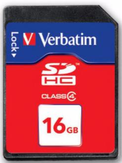 VERBATIM MICRO SDHC 16GB CLASS 4 (044020)