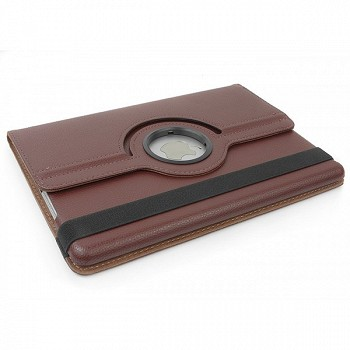 APAM 360 DEGREE ROTATION STAND WALLET CASE FOR IPAD MINI COFFEE