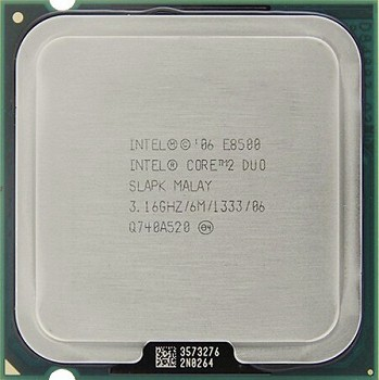 INTEL CORE 2 DUO E8500 (6 MB ქეშ მეხსიერება, 3.16 GHZ) TRAY