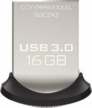 SANDISK ULTRA FIT USB 3.0 16 GB (SDCZ43-016G)