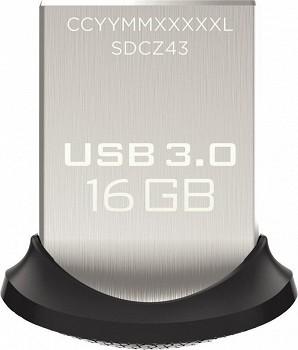 SANDISK ULTRA FIT USB 3.0 16 GB (SDCZ43-016G)